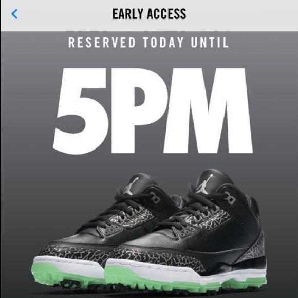 cf4427714117 Air Jordan 3 Mens Golf Shoes. Black and green